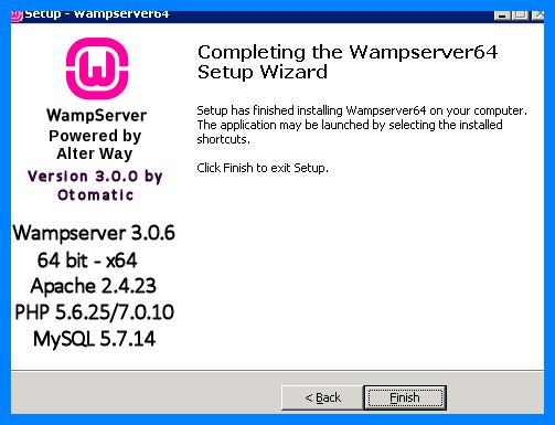 Конец установки сервера